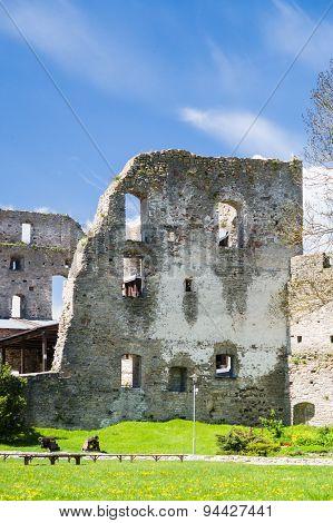 Ruined Wall Of Haapsalu Episcopal Castle, Estonia