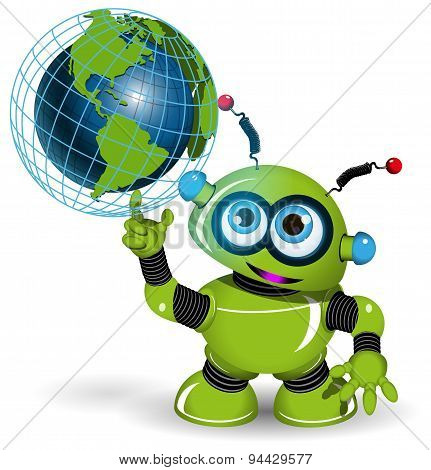 Robot And Globe