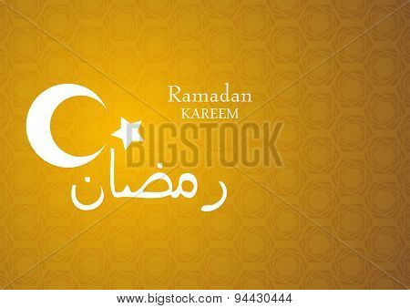 Ramadan Kareem bright abstract background. Vector design template