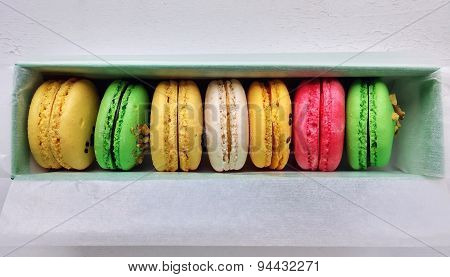 Different Flavors And Colors Of Macarons