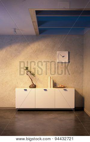 modern design of lounge room. 3D rendering
