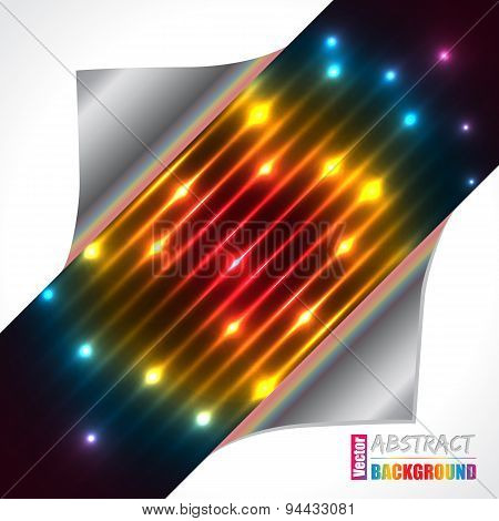 Abstract Rainbow Plasma Laser Brochure Design