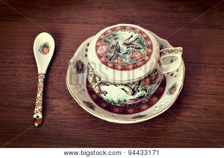 Antique tea cup.