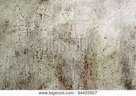 Cracked Paint On The Iron Surface