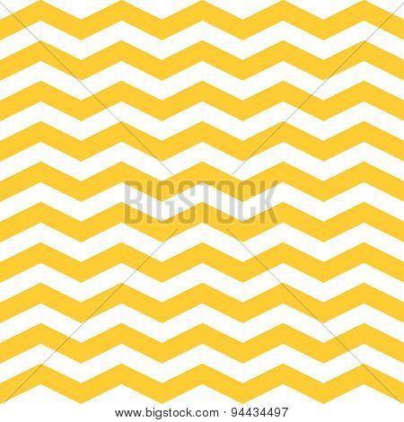 ZigZag Chevron Pattern. Yellow and white retro background