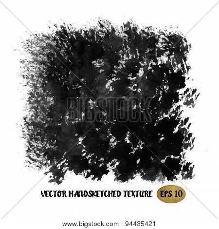Grunge Ink Hand Drawn Texture. Vector Eps10 Illustration Doodle Painting