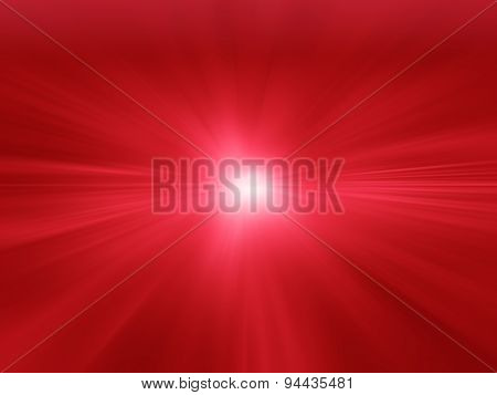 Red Radial Abstract Background