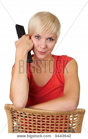 Girl With Tv Remote