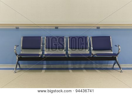 Chairs In Hospital Corridor