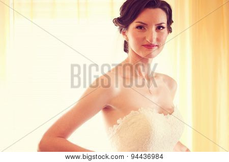 Bride Looking At Camera