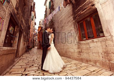 Bride And Groom On Streets