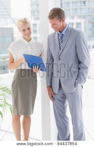 Business partners working together in an office