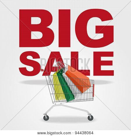 big sale and shopping cart