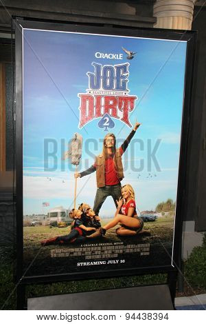 LOS ANGELES - JUN 24:  Joe Dirt 2 Poster at the