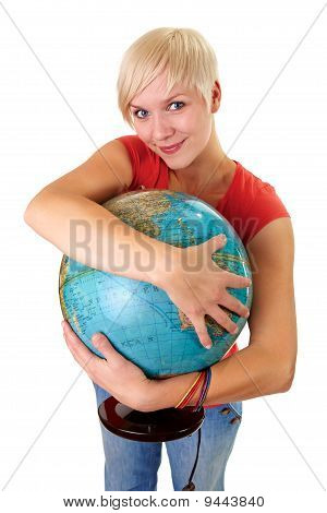 Globe In Her Arms
