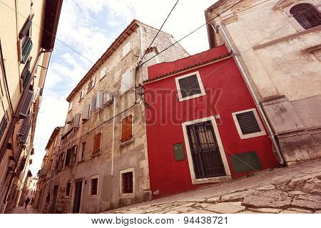 Old Buildings On Street