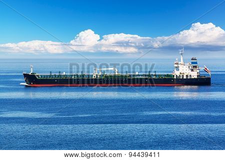 Industrial oil and chemical tanker ship