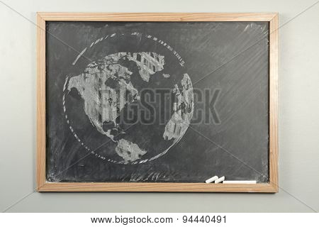 Chalkboard World Globe
