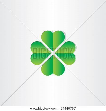 Green Clover Luck St Patrick Symbol