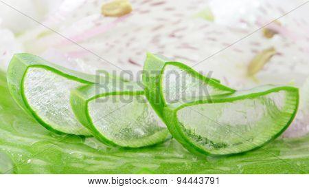 Sliced Aloe Vera.