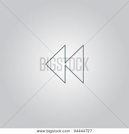 rewind back icon