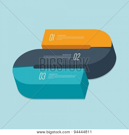 Vector 3d flat design abstract infographic elements