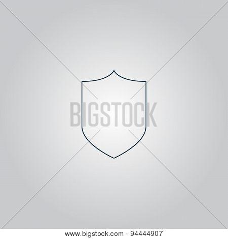 Shield icon, vector illustration.