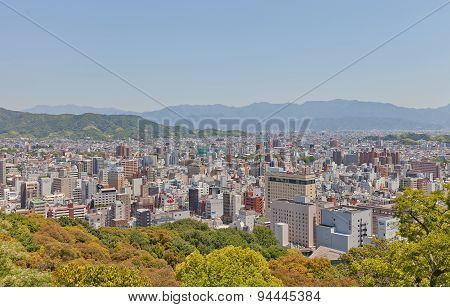 View Of Matsuyama Town, Shikoku Island, Japan