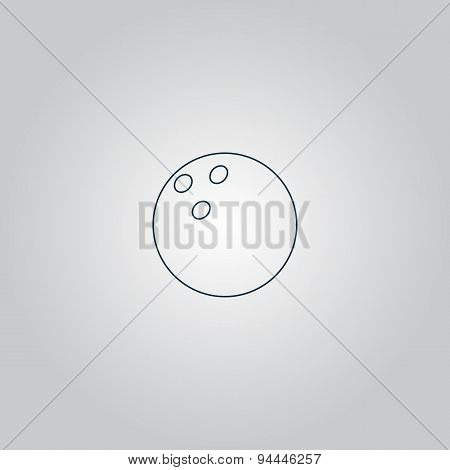 Bowling ball Vector illustration