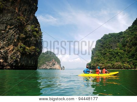 Kayaking In Pang Nga Bay, Thailand