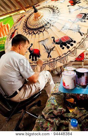 Umbrella Painting In Chiand Mai, Thailand