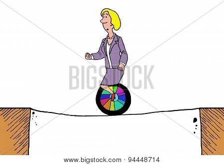 Unicycle on Tightrope