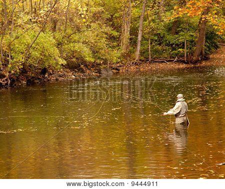 Flyfishing Angler