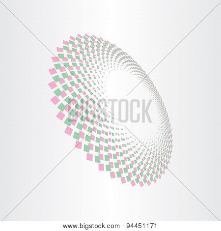Abstract Halftones Perspective Background
