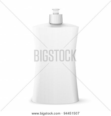 Blank dish washing liquid package