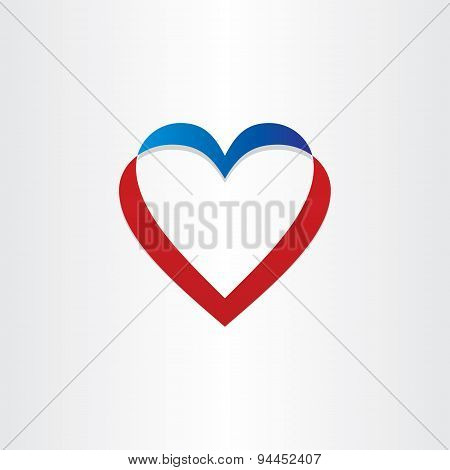 Twisted Heart Symbol Design
