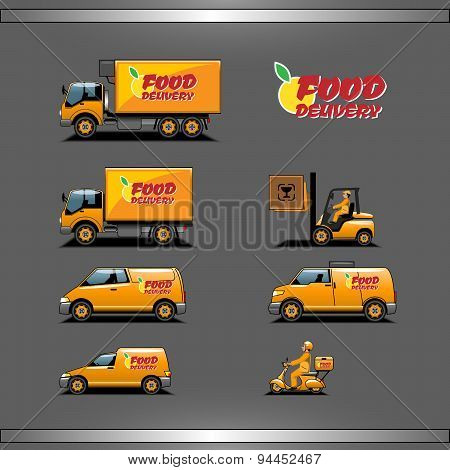 Delivery transport set