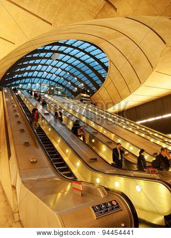 Canary Wharf Underground Station, London
