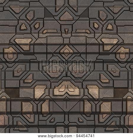 Metal Pattern Generated Seamless Texture