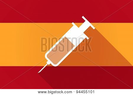Spain  Long Shadow Flag With A Syringe