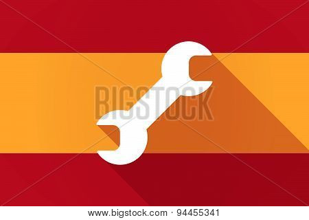 Spain  Long Shadow Flag With A Wrench