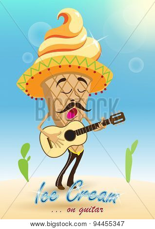 Ice Cream On Guitar