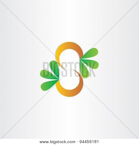 Letter S Plant With Green Leafs