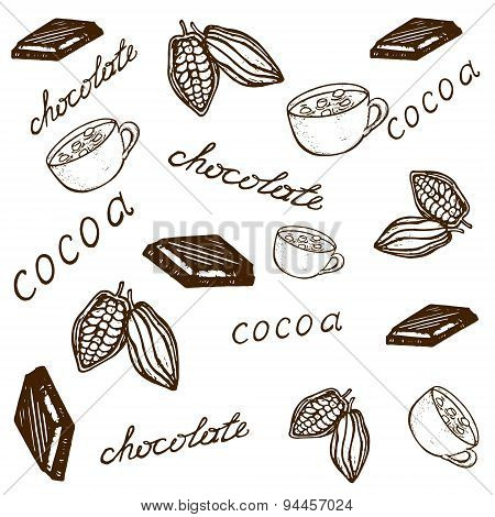 Pattern Cocoa And Chocolate
