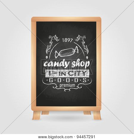 Chalk Drawings. Retro Typography. Candy