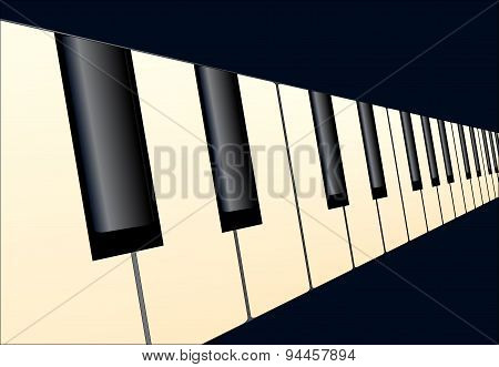 Piano Keys Perspective