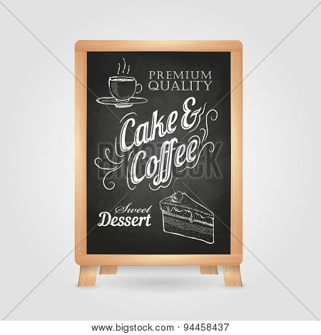 Chalk Drawings. Retro Typography. Cake