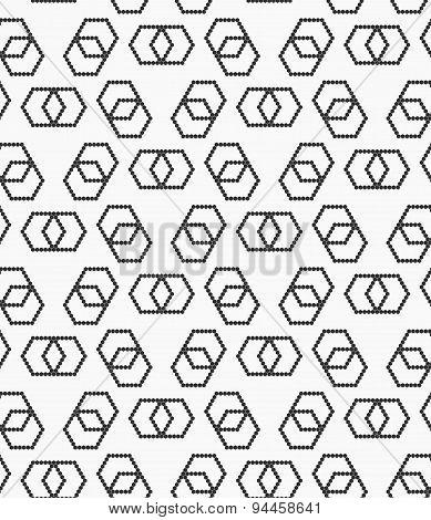 Flat Gray With Hexagonal Infinity Shaped