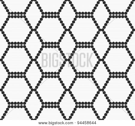 Flat Gray With Hexagonal Reticulated Ornament