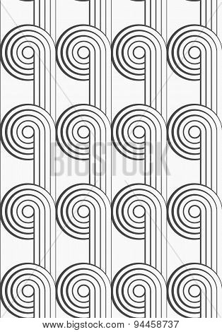 Flat Gray With Textured Circles With Continues Lines